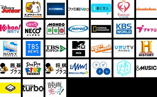 dTVチャンネルで観れる31の専門チャンネル